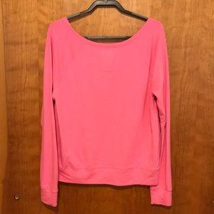 PINK Victoria's Secret Tops - Pink Off Shoulder Lounge Shirt